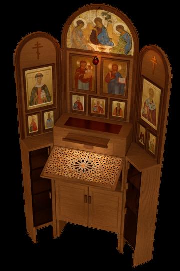 Иконостас украшен православной